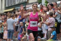 Daniela Matter, Siegerin Hellenbardenlauf. (Bild: Philipp Schmidli)