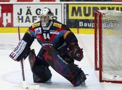 Kloten Flyers Torhueter Michael Flueckiger. (Bild: Keystone)