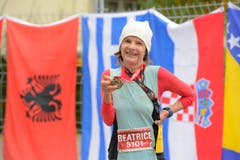 Beatrice Odermatt, Siegerin der Kategorie W55. (Bild: Dominik Wunderli/LZ)