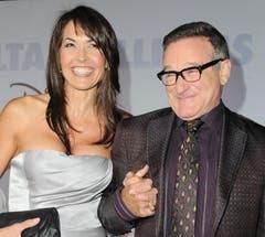 Robin Williams mit seiner Frau Susan Schneider an der Premiere von «Old Dogs - Daddy oder Deal» in Los Angeles. (Bild: Keystone)