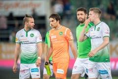 Enttäuschung beim FC St.Gallen mit Torhüter Daniel Lopar nach der Niederlage gegen den FC Thun. (Bild: Urs Bucher)