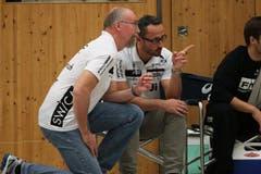 Trainer Torben Winter und Nick Christen. (Bild: Roger Zbinden/Neue LZ)