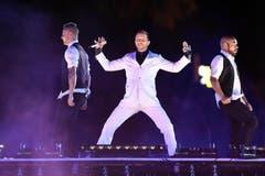 Auch der Schweizer Sänger DJ Bobo hatte seinen Auftritt an der Leichtathletik-EM-Eröffnungsfeier. (Bild: Keystone)