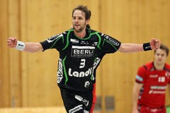 Kriens Daniel Fellmann bejubelt einen Treffer (Bild: Philipp Schmidli / Neue LZ)