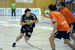 Nicolas Raemy erzielte vier Treffer gegen Kadetten Schaffhausen. (Bild: Pius Amrein/Neue LZ)