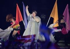 Serbien: Bojana Stamenov bei ihrem Song 'Beauty Never Lies'. (Bild: Kerstin Joensson)