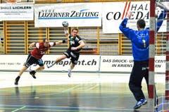 Pascal Willisch beim Abschluss. (Bild: Remo Nägeli / Neue LZ)