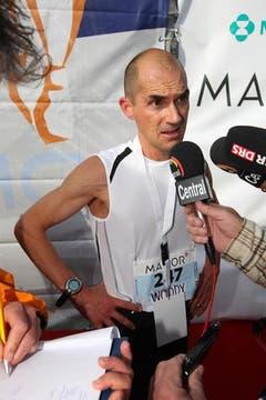 Woody Schoch, der Sieger des 5. Lucerne Marathons. (Bild: Nadia Schärli / Neue LZ)