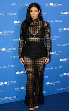 Auch in Cannes gehörte Kim Kardashian im Juni 2015 zu den meistfotografierten Promis. (Bild: Keystone)