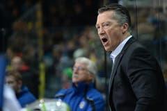 Zugs Trainer Harold Kreis. Freut er sich oder ärgert er sich? (Bild: Daniel Teuscher/EQ Images)