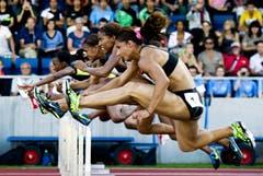 100 m Hürden der Frauen, gewonnen von Ginnie Crawford (USA). (Bild: Keystone)