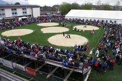 3000 Zuschauer kamen nach Baar. (Bild: Werner Schelbert / Neue ZZ)