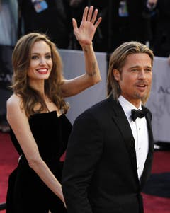 Angelina Jolie und Brad Pitt. (Bild: Keystone/EPA)