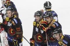 Die enttäuschten Berner Deruns, Neuenschwander, Oudelet und Ruethemann (von rechts).