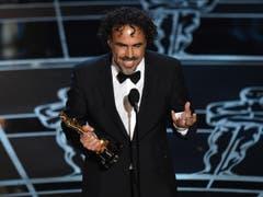 Alejandro G. Inarritu gewinnt den Oscar für die beste Regie («Birdman») (Bild: Keystone / John Shearer)