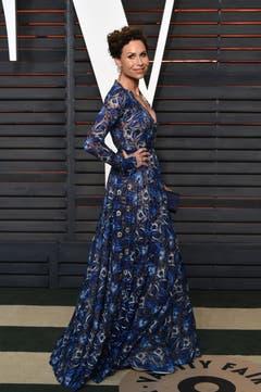 Die Schauspielerin Minnie Driver an der Vanity Fair Oscar Party. (Bild: Keystone/Evan Agostini)