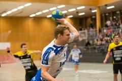 Mit einem Treffer erfolgreich: Yves Mühlebach vom HC Kriens-Luzern. (Bild: Roger Grütter / Neue LZ)