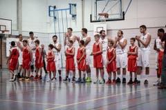 Die Spieler von Swiss Central vor dem Match. (Bild: Urs Güttinger)