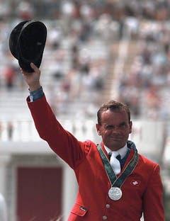 Willi Melliger, Silber im Springen Einzel, 1996 in Atlanta. (Bild: Keystone / Christoph Ruckstuhl)