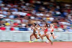 100m B-Lauf der Frauen. (Bild: Philipp Schmidli / Neue LZ)