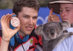 Christoph Sauser, Bronze im Mountainbike, 2000 in Sydney. (Bild: Keystone / Patrick B. Krämer)