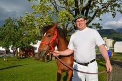 Andi Imhof mit Pferd. (Bild: PD)