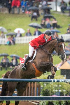 Romain Duguet springt mit Quorida de Treho. (Bild: Urs Bucher)