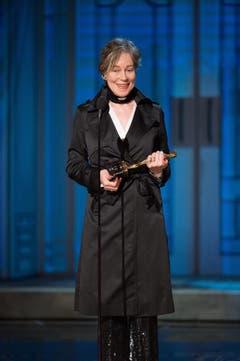 Milena Canonero bei der Dankesrede für den Oscar im besten Kostümdesign («Grand Budapest Hotel») (Bild: MICHAEL YADA / AMPAS)