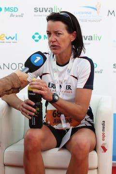 Die Siegerin im Halbmarathon, Kaskel Jeannine. (Bild: Nadia Schärli / Neue LZ)