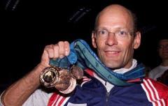 Heinz Frei, Bronze über 1500m Rollstuhlrennen Exhibition, 2000 in Sydney. (Bild: Keystone / Franceo Greco)