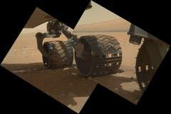 ... und von der Seite macht Curiosity eine gute Falle. (Bild: Keystone / Nasa)