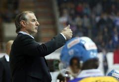 Kloten Flyers Cheftrainer Felix Fige) Hollenstein ( (Bild: Keystone)