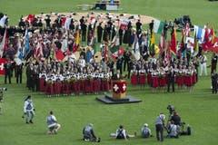 Blick auf den Festakt während der Rede von OK_Präsident Andreas Aebi. (Bild: Keystone)