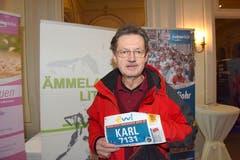 Karl Reischer, Bad Vöslau, Österreich: «Ich bin Laufsportler und habe sehr viel Positives von Luzern gehört. Nun will ich diesen Marathon selber hautnah erleben.» (Bild: Michael Wyss)