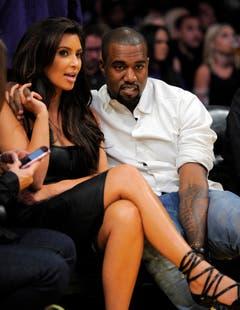Kim Kardashian mit ihrem aktuellen Ehemann Kanye West. (Bild: Keystone)