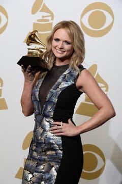 Miranda Lambert mit dem Best Country Album-Award. (Bild: Keystone)