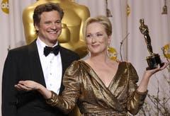 Oscar-Gewinnerin Meryl Streep und Colin Firth. (Bild: Keystone/EPA)