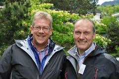 Christian Waser (Bankratspräsident Nidwaldner Kantonalbank (links) und der Obwaldner Kantonsratspräsident Urs Küchler (Bild: Robert Hess / Neue OZ)