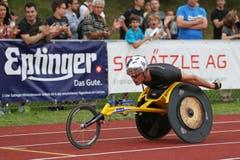Marcel Hug im Rollstuhlrennen. (Bild: Philipp Schmidli / Neue LZ)