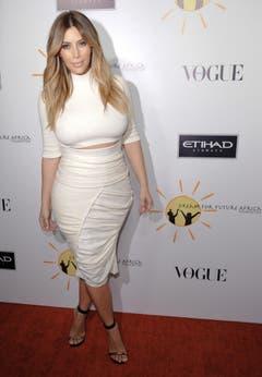 Im Herbst 2013 war Kim Kardashian zu Gast an einer Wohltätigkeitsgala für Afrika. (Bild: Keystone)