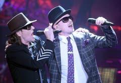 Erfolgreiches Duo: Udo Lindenberg und Jan Delay. (Bild: Keystone)