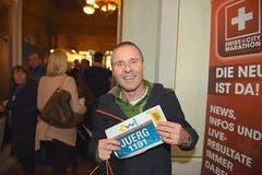 Jürg Reichen, Unterägeri: «Der Marathon in Luzern ist der ultimative Saisonabschluss für mich. Ich nehme mit einigen Personen aus der Verwandtschaft hier teil.» (Bild: Michael Wyss)