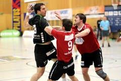 Boris Stankovic erzielte ein Tor gegen Pfadi Winterthur. (Bild: Roger Zbinden/Neue LZ)