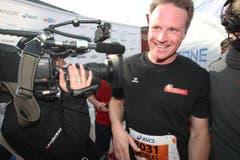 Ein zufriedener Andreas Meyer, CEO der SBB. (Bild: Nadia Schärli / Neue LZ)