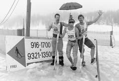 1991: Die erste und bis jetzt einzige Absage: Ein Wärmeeinbruch und viel Wasser auf dem Eis der Seen verhindert den Start. Immerhin für die Hotellerie kein Beinbruch: Alle Teilnehmer waren bereits angereist, die Absage erfolgt am Samstag vor dem Rennen. (Bild: Keystone)