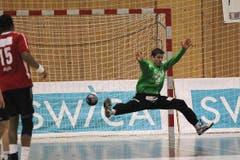 HC Kriens-Luzer Torhüter Roman Schelbert. (Bild: Roger Zbinden/Neue LZ)