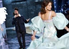 The Weeknd bei einem Auftritt. (Bild: Keystone)
