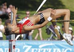 Hochspringerin Beatrice Lundmark wird mit 1,86 Meter Fünfte. (Bild: Keystone)