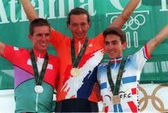 Thomas Frischknecht, Silber im Mountainbike, 1996 in Atlanta. (Bild: AP / Lionel Cironneau)