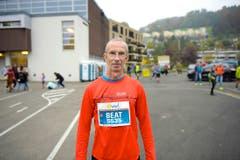 Beat Läderach Mümliswil, Solothurn: «Das Wetter ist super, ich freue mich auf den Marathon. Ich bin zum ersten Mal am Start. Ich habe von vielen Läufern gehört, dass in Luzern der Marathon fantastisch sei.» (Bild: Michael Wyss)